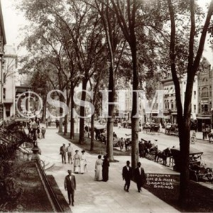 Looking North on Broadway from the United States Hotel 1907