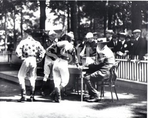 Jockey's Signing in at Saratoga Race Track