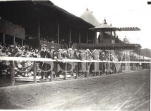 Men at the Rail at Saratoga Race Course
