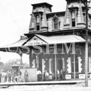 Saratoga Springs Railroad Station in the 1880's