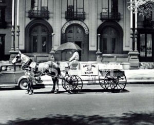 The Saratoga Vichy Wagon in Front of the Grand Union Hotel 1944